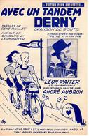 CYCLISME VELO MOTO RISé - CHANSON DE ROUTE - AVEC UN TANDEM DERNY - 1951 - BELLE ILLUSTRATION - EXCELLENT ETAT - - Music & Instruments