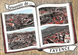 Souvenir De ... FAYENCE - Vue Générale - Tour De L'Horloge - Vue Sur Le Village - L'Eglise - Livre Ouvert - Fayence