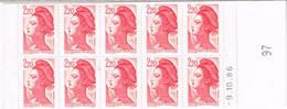 2427-C1b   Carnet Liberté 2,20F  Code Postal Nappe 97 Chiffres Larges Daté 09/10/86 Décalage Découpe 150 - Definitives