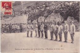 Militaria - Militaire : Guerre 1914-18 : Remise De Décorations Par Le Général PAU à - MONTREUX - Le 16 Juin 1917 - Guerra 1914-18
