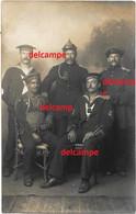 Orginal Photo German Soldiers Marine Sailors Pin Helmet German Kolonial Soldier - 1914-18