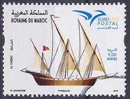 Timbre Oblitéré N° 1710(Yvert) Maroc 2015 - Marine, Voilier Le Chebec, Euromed - Maroc (1956-...)