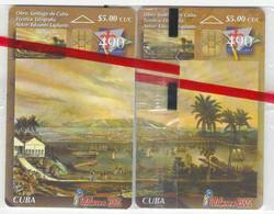CUBA  Telebarna 2005  PUZZLE,  Santiago De Cuba, 2 Tarjetas Chip Nuevas, Tirada 1.000 Ex, HARD TO GET - Puzzle