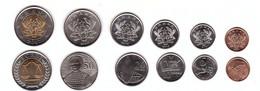 Ghana - Set 6 Coins 1 5 10 20 50 Pesewa 1 Cedi 2007 - 2016 UNC Lemberg-Zp - Ghana