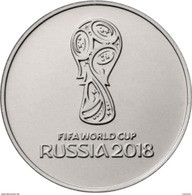 RUSSIA RUSSLAND RUSSIE 25 ROUBLE RUBLE FIFA SOCCER WORLD CUP 2016 / 2018 UNC - Russie