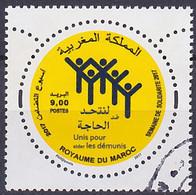 Timbre Oblitéré N° 1740(Yvert) Maroc 2017 - Semaine De Solidarité - Maroc (1956-...)