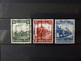 Timbres Allemagne : 1935 Train YT N° 539, 540, 541   & - Oblitérés