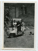 Snapshot Rare Superbe Femme Woman Scooter 2 Vespa à Situer Identifier - Anonymous Persons