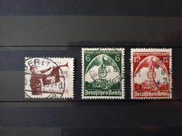 Timbres Allemagne : 1935 Aigle YT N° 544, 545, 546  & - Oblitérés