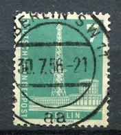 "Germany, Berlin 1956  Michel  Nr 135 ""Freimarke Berliner Stadtbilder,Funkturm "" 1 Wert Used- - Gebraucht"