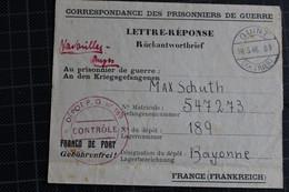 LETTRE REPONSE PRISONNIER ALLEMAND  DEPOT 189 - Guerre