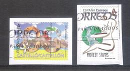 España 2020 - 2 Sellos Usados Y Circulados -Castellón Y Sello Protesta -Provincias De España-Espagne Spain Spanien - 1931-Hoy: 2ª República - ... Juan Carlos I