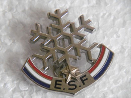 Broche (no Pin's)  - ESF Ecole Ski Français Niveaux Et Tests Flocon De Neige à 1 étoile - Sport Invernali