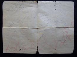 CARTE RENSEIGNEE MAISONS DE CHAMPAGNE  TRANCHEES ALLEMANDES   24e DIVISION INFANTERIE MARS 1917 - 1914-18