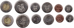 Panama - Set 6 Coins 1 5 1/10 Cent 1 1/2 1/4 Balboa 2017 - 2019 UNC Lemberg-Zp - Panama