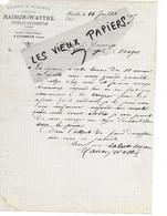 80 - Somme - FRIVILLE-ESCARBOTIN - Facture MAISON-WATTRE - Grains Et Graines - 1895 - REF 162C - 1800 – 1899