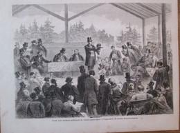 Gravure 1863    Vente Aux Encheres  Publiques  De Chiens De L Exposition Canine    JARDIN D ACCLIMATION - Sin Clasificación