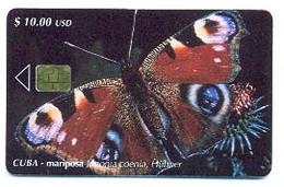 CUBA, Used Chip Phonecard, In Perfect Condition, Mariposa Junonia..., # Cuba-102 - Cuba