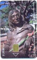 CUBA, Used Chip Phonecard, In Perfect Condition, Estatua De John Lennon, # Cuba-111 - Cuba
