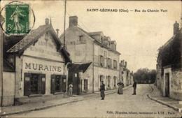 CPA Avilly Saint Léonard Oise, Rue Du Chemin Vert - Andere Gemeenten