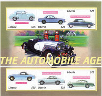 Liberia - Automobile Age - Holden-BMW-Citroen DS-MGB-Mercedes-Bentley -  6v Sheet Neuf/Mint/MNH - Coches