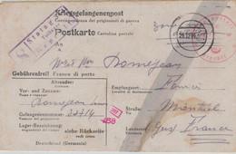 Stammlager VIII A [Görlitz Moys - Ujazd Von Zgorzelec] Chemische Z. Zensurstelle 16 - 1944 Nach Frankreich - Stummer St. - Allemagne