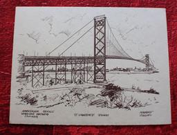 """S/S AMBASSADOR BRIDGE WINDSOR ONTARIO / SAINT LAURENCE SEAWAY CANADA -☛NORBERT COLLINS-☛FAIRE PART OU """"AUTRES"""" - Mededelingen"""
