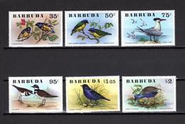 BARBUDA N° 251 à 256   NEUFS SANS CHARNIERE   COTE  26.50€   ANIMAUX  OISEAUX  VOIR DESCRIPTION - Antigua And Barbuda (1981-...)