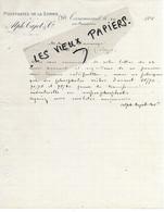 80 - Somme - TERRAMESNIL - Facture CAJOT - Phosphates De La Somme - 1895 - REF 162C - France