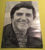 GIUFFRÈ Aldo In Foto  E Carlo Sul Retro,autografi Del 1981 - Autographs