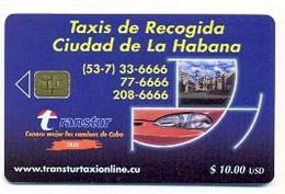 CUBA, Used Chip Phonecard, In Perfect Condition, Taxis De Recogida, # Cuba-126 - Cuba