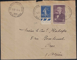 Indre Et Loire - Cachet Tours Halle Centrales - Lettre Pour Oran (Algérie) - Tariffe Postali