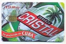 CUBA, Used Chip Phonecard, In Perfect Condition, Cerveza Cristal, # Cuba-128a - Cuba