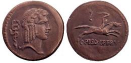 05353 GETTONE JETON TOKEN REPRO COIN ROMAN SERIE ERGO DENARIUS CALPURNIUS 67 B.C - Italy