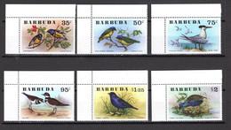 BARBUDA N° 251 à 256   NEUFS SANS CHARNIERE   COTE  26.50€   ANIMAUX  OISEAUX - Antigua And Barbuda (1981-...)