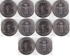 Serbia - 5 Pcs X 20 Dinara 2007 UNC 265 Y Dositej Obradovich Lemberg-Zp - Serbia