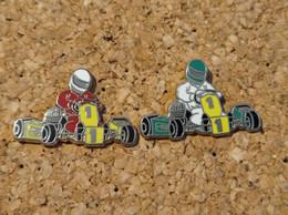 LOT DE 2 PINS KARTING KART ZAMAC SIGNE BOUSSEMART - Rallye