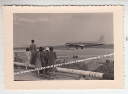 PHOTO BRUXELLES ZAVENTEM DEPART SABENA AVION DOUGLAS DC-6 OO-AWA / VLIEGUIG AIRPLANE FLUGZEUG - 1946-....: Moderne