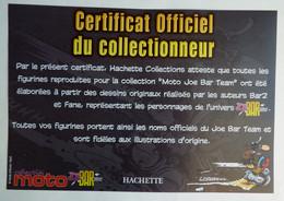 FLYERS Certificat COLLECTION HACHETTE LES FIGURINES JOE BAR TEAM - Werbeobjekte
