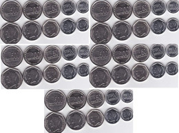 Venezuela - 5 Pcs X Set 5 Coins 10 20 50 100 500 Bolivares 2002 - 2004 UNC Lemberg-Zp - Venezuela