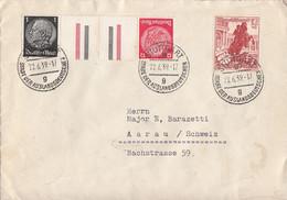 DR Brief Mif Minr.680,Zdr. Minr.KZ26 Stuttgart 22.6.39 Devisenkontrolle, Vignette - Allemagne