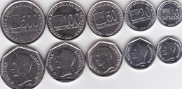Venezuela - Set 5 Coins 10 20 50 100 500 Bolivares 2002 - 2004 UNC Lemberg-Zp - Venezuela