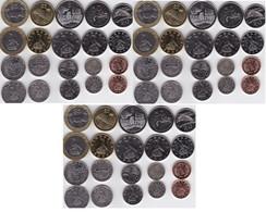 Zimbabwe - 3 Pcs X Set 10 Coins 1 5 10 20 50 Cent 1 2 5 10 25 Dollars 1997 - 2003 AUNC Lemberg-Zp - Zimbabwe