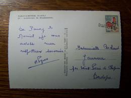 France - Oblitération De Fortune - Annulation Linéaire De DORDOGNE - Saint Pierre De Chignac  (24) - Sur CPSM - Unclassified