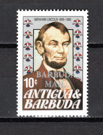 BARBUDA N° 699 NEUF SANS CHARNIERE COTE  0.15€   PRESIDENT LINCOLN - Antigua And Barbuda (1981-...)