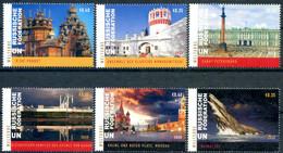 ONU Vienne 2020 - Unesco - Patrimoine Mondial Fédération De Russie - 6 Timbres Détachés De Carnet De Prestige ** - Centre International De Vienne