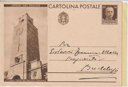 Sassari. 1933. Cartolina Postale OPERE DEL REGIME. Al Verso CAGLIARI ( CENTRO ) B - Storia Postale