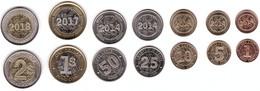 Zimbabwe - Set 7 Coins 1 5 10 25 50 Cents Bond Coin 1 2 Dollars 2014 - 2018 UNC Lemberg-Zp - Zimbabwe