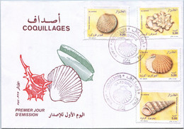 FDC - Enveloppe D'Algérie (Oran) - Coquillages (04-12-2002) - Algeria (1962-...)