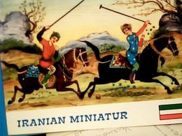 IRAN - TEHRAN INTERNATIONAL HOTEL - IRANIAN (persian) MINIATUR - CHEVAUX - POLO - HORSES  VB1975 HR10849 - Iran